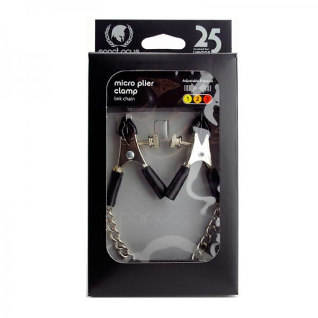 Spartacus Adjustable Nipple Clamps With Curved Chain - Nipple Clamps