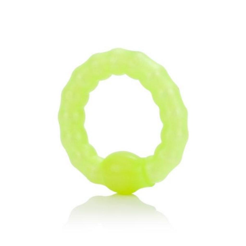 Pearl Beaded Prolong Ring Glow In The Dark - Stimulating Penis Rings