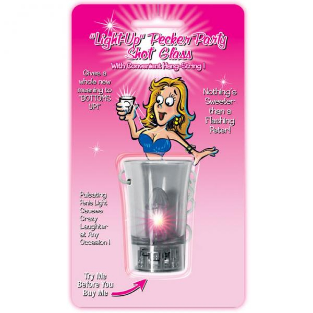 Light Up Pecker Party Shot Glass W/convenient Hang-string - Party Wear