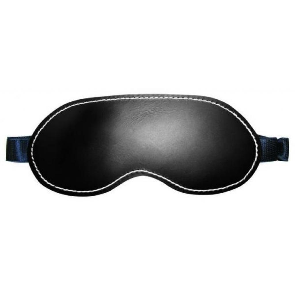 Edge Leather Blindfold Black OS - Blindfolds